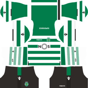 Dream League Soccer FTS15 Sporting CP Kits and Logos 2018, 2019 – [512X512]