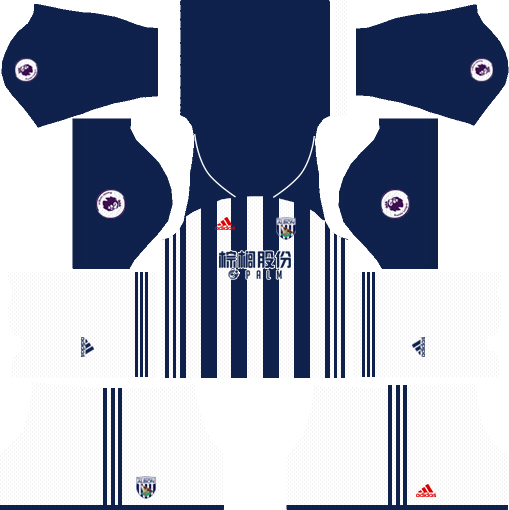 West Bromwich Albion F.C. Home Kits DLS 2018