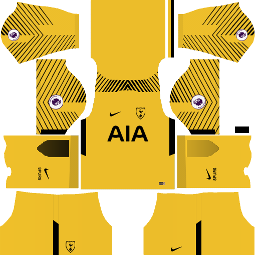 Tottenham Hotspur Goalkeeper Home Kits DLS 2018