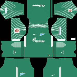 Zenit St Petersburg Goalkeeper Home Kits DLS 2018