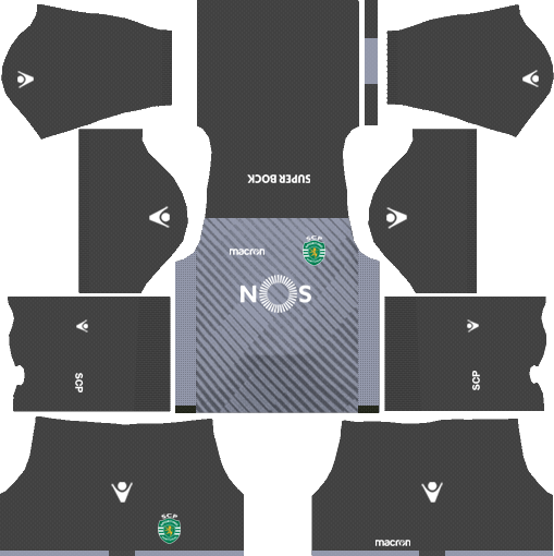 Sporting CP Goalkeeper Home Kits DLS 2018