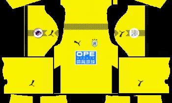 Huddersfield Goalkeeper Third Kits DLS 2019