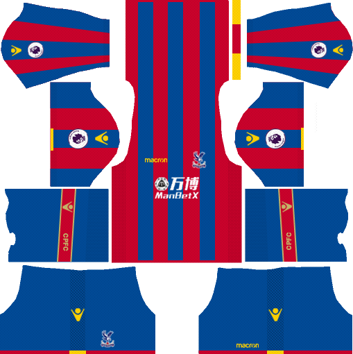 Crystal Palace F.C. Home Kits DLS 2018