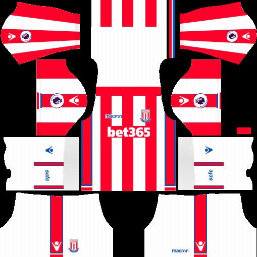 Stoke City F.C. Home Kits DLS 2018