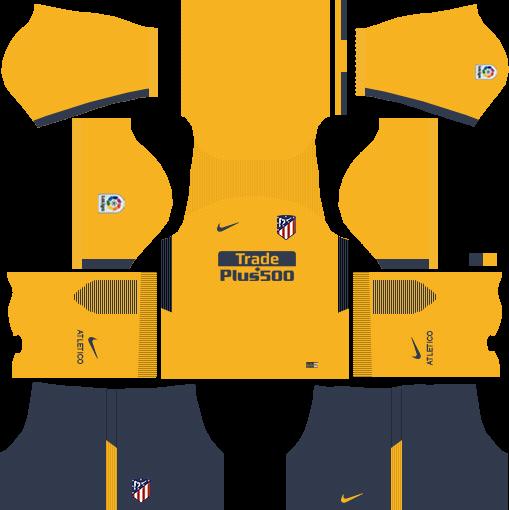 Atlético Madrid Away Kits DLS 2018