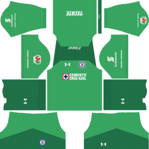 Cruz Azul Goalkeeper Home Kits DLS 2018