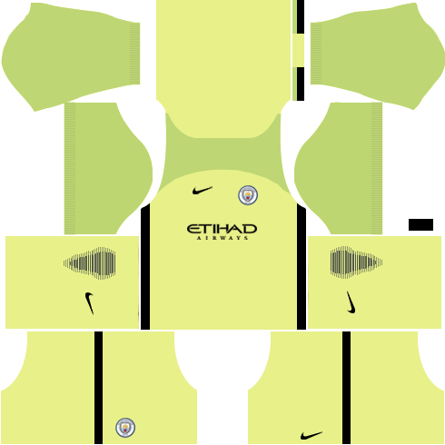 Manchester City Goalkeeper Home Kits DLS 2018