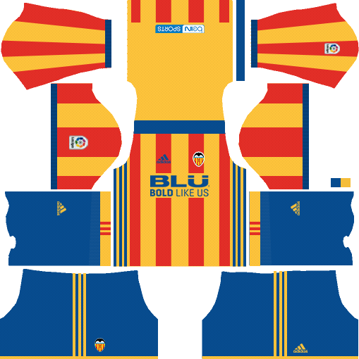 Dream League Soccer Valencia away kit 2018 - 2019-2020