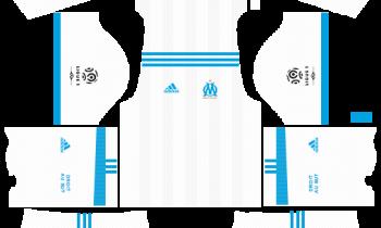 Olympique de Marseille Home Kits DLS 2018