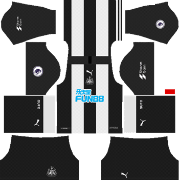 Newcastle-United-FC-Home-Kit-2019-20-DLS-19-Kits-Dream-League-Soccer