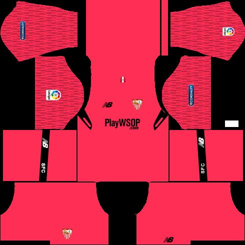 Sevilla FC Goalkeeper Home Kits DLS 2018