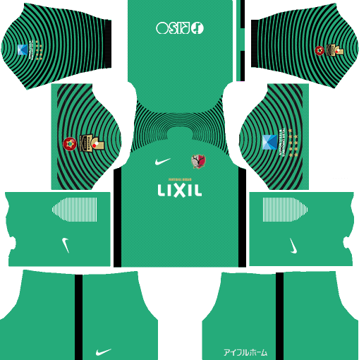 Kashima Antlers Goalkeeper Away Kits DLS 2018