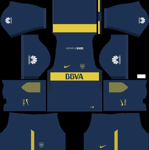 Boca Junior Home Kits DLS 2018