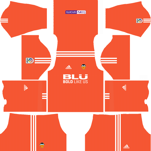 Dream League Soccer Valencia Goalkeeper Home kit 2018 - 2019-2020