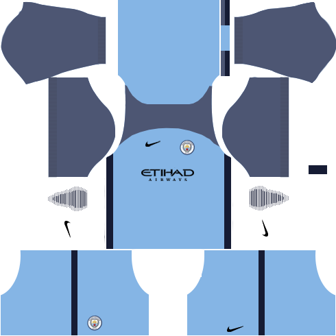 Manchester City Home Kits DLS 2018