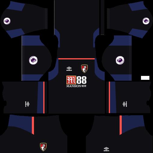 A.F.C. Bournemouth Goalkeeper Away Kits DLS 2018