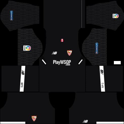 Sevilla FC Goalkeeper Away Kits DLS 2018