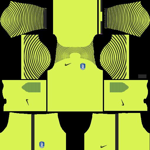 South Korea Goalkeeper Away Kits DLS 2018