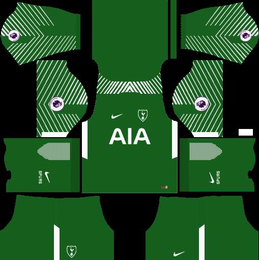 Tottenham Hotspur Goalkeeper Away Kits DLS 2018