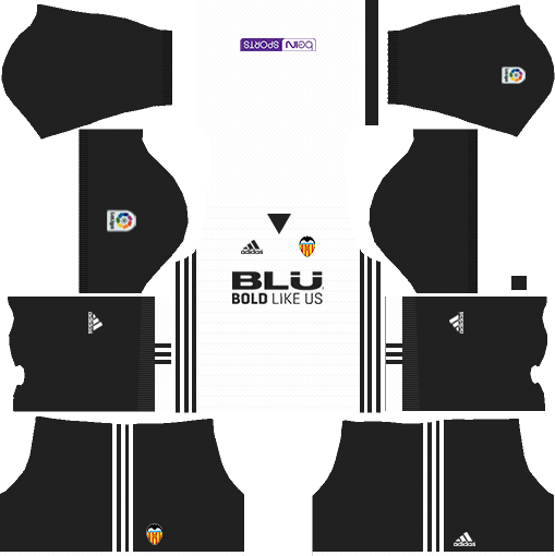 Dream League Soccer Valencia home kit 2018 - 2019-2020