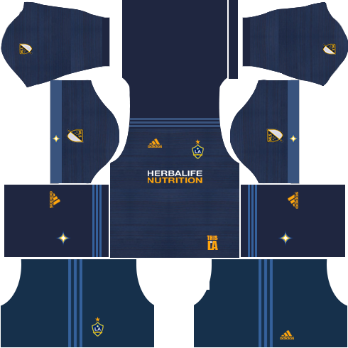 LA Galaxy Away Kits DLS 2018