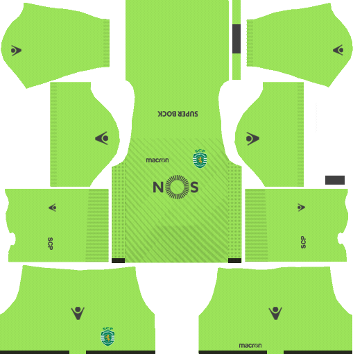Sporting CP Goalkeeper Away Kits DLS 2018
