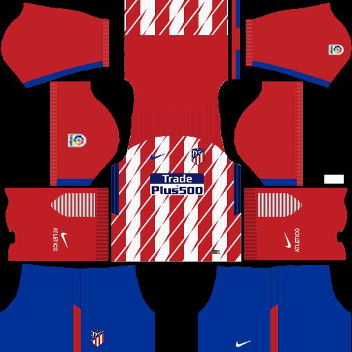 Atlético Madrid Home Kits DLS 2018