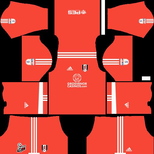 Fulham F.C. Goalkeeper Home Kits DLS 2018