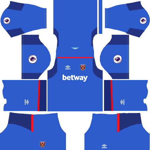 West Ham United Goalkeeper Away Kits DLS 2018