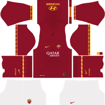 AS-Roma-Home-Kit-2019-20-DLS-19-Kits-Dream-League-Soccer