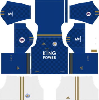 Leicester-City-2019-2020-Home-Kit-DLS-19-Kits-Dream-League-Soccer