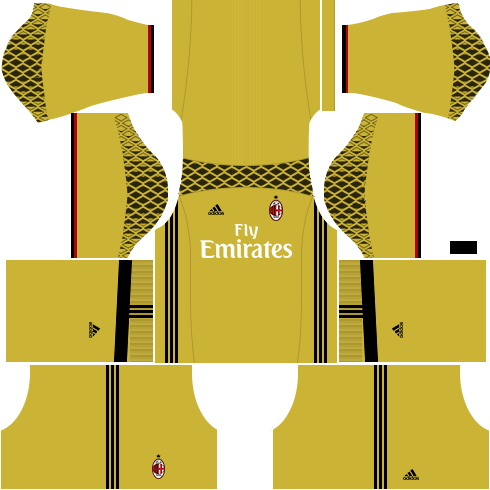 Dream League Soccer AC Milan goalkeeper away kit 2018 - 2019-2020