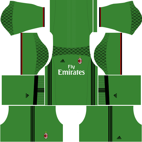 Dream League Soccer AC Milan goalkeeper home kit 2018 - 2019-2020