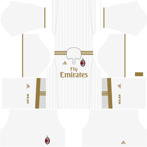 Dream League Soccer AC Milan away kit 2018 - 2019-2020