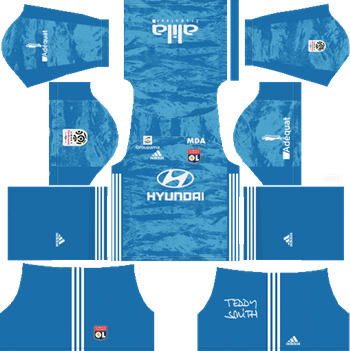 Olympique-Lyonnais-Goalkeeper-Home-Kit-2019-2020-DLS-19-Kits-Dream-League-Soccer