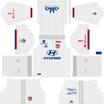 Olympique-Lyonnais-Home-Kit-2019-2020-DLS-19-Kits-Dream-League-Soccer