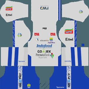 Dream League SoccerPersib Bandung Kits and Logos 2019-2020 - [512X512]