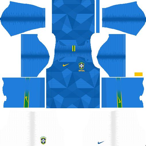 dls brazil away kit