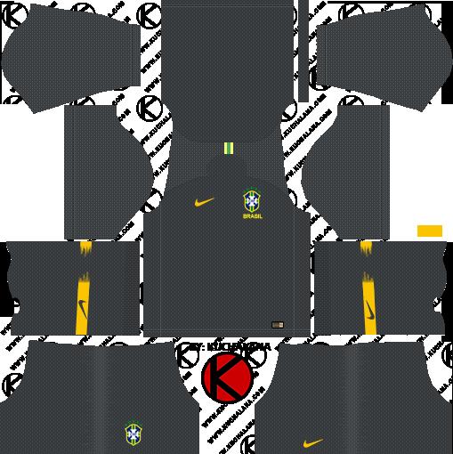 dls brazil gk away kit