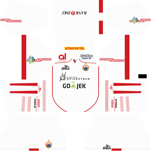 Dream League Soccer Persija Jakarta away kit 2018 - 2019