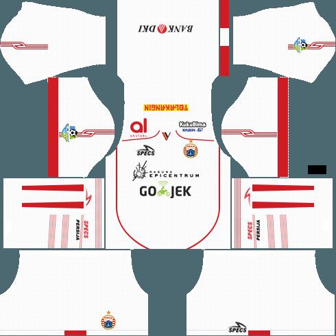 Dream League Soccer Persija Jakarta away kit 2018 - 2019-2020