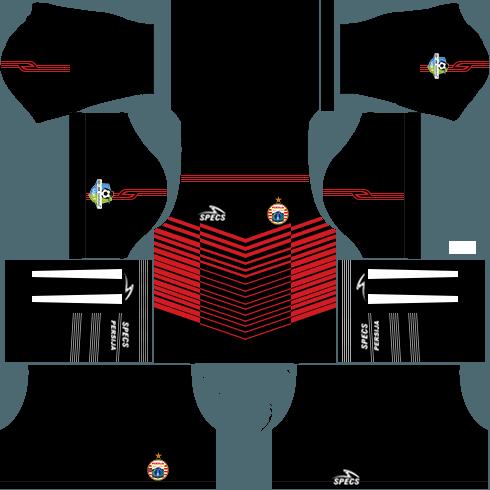 Dream League Soccer Persija Jakarta goalkeeper home kit 2018 - 2019-2020