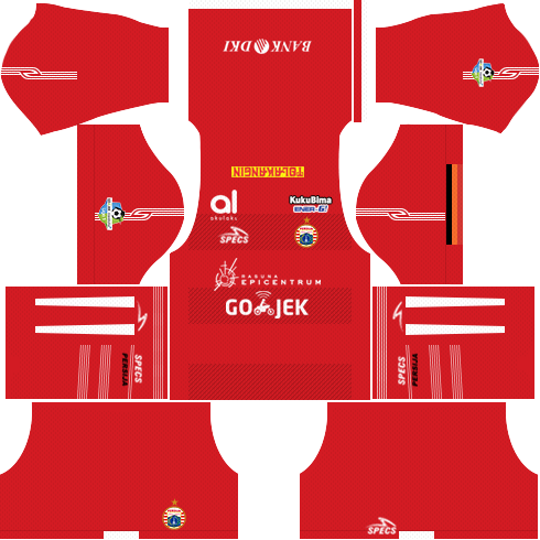 Dream League Soccer Persija Jakarta home kit 2018 - 2019