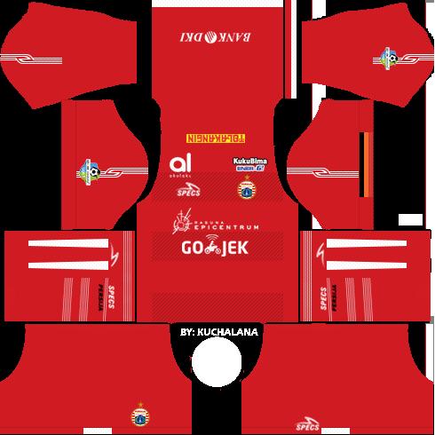 Dream League Soccer Persija Jakarta home kit 2018 - 2019-2020