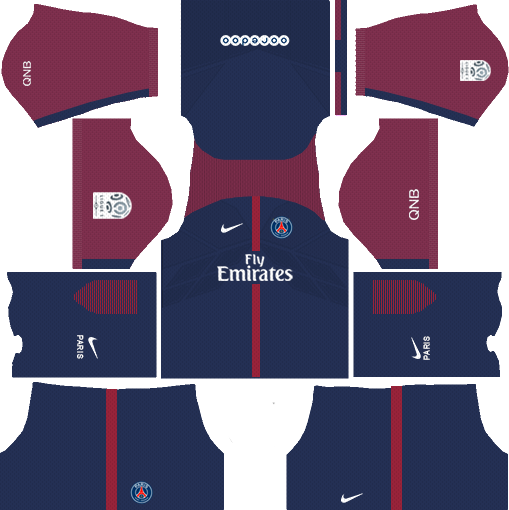 dream league soccer psg kits - home kit