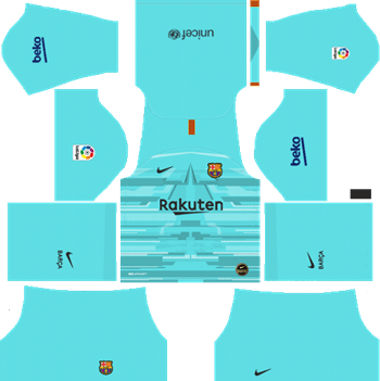 Barcelona-Goalkeeper-Home-Kit-2019-DLS-19-Kits-Dream-League-Soccer