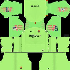 Dream League Soccer Barcelona goalkeeper away kit 2018 - 2019