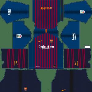 Dream League Soccer Barcelona home kit 2018 - 2019