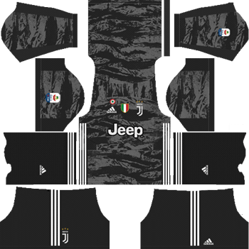 Juventus-Goalkeeper-Home-Kit-2019-2020-DLS-19-Kits-Dream-League-Soccer