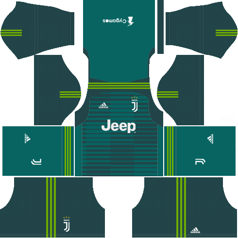 Dream League Soccer Juventus goalkeeper home kit 2018 - 2019
